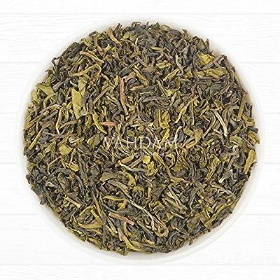 Grüne BIO Tee Blätter aus dem Himalaya (50 Tassen) - Detox, Reinigungs & Abnehm Tee - starke natürliche Antioxidantien, 100% Reiner Grüner Tee von den hoch gelegenen Plantagen in Darjeeling, Loose Leaf (lose Blätter) Tee, Verpackt in Indien, Green Te