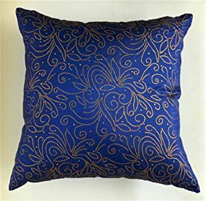 Blue Beaded Throw Pillow : home kitchen bedding decorative pillows inserts covers pillow covers