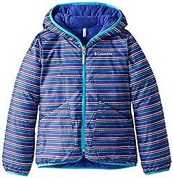 Columbia Big Girls\' Girls Dual Front Jacket, Atoll Stripe, Small