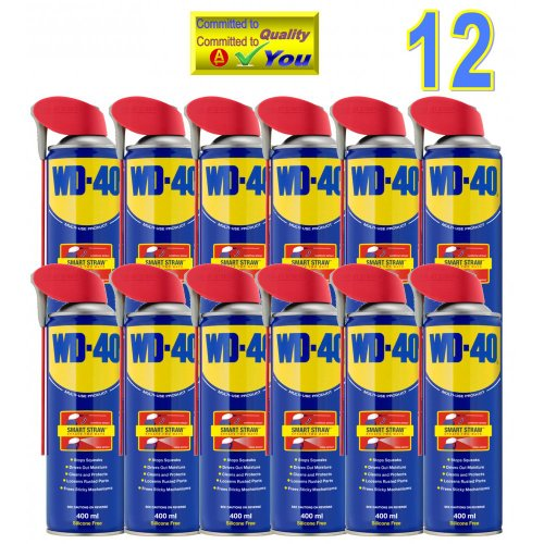 12 Cans WD40 44036 Smart Straw Multi Purpose Maintanance Lubricant Oil Releasant