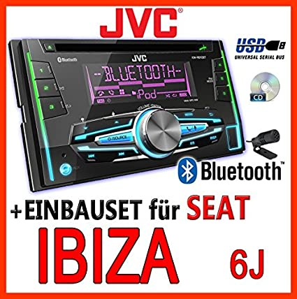 Seat ibiza 6J-gris clair-jVC-kW-r910BT 2-dIN avec uSB