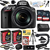 Nikon D5300 24.2MP Digital SLR Camera with 18-140mm f 3.5-5.6G ED VR AF-S DX Zoom Lens + 128GB + Card Reader + Tripod + Case + HDMI Cable + Extra Battery + Charger + 5 Piece Filter Set + Cleaning Kit