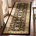 "Safavieh Lyndhurst Collection LNH212A Traditional Oriental Black and Ivory Runner (23"" x 6)"
