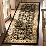 """Safavieh Lyndhurst Collection LNH212A Traditional Oriental Black and Ivory Runner (23"""" x 6)"""