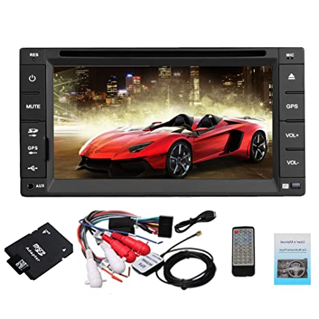 Pupug MP3 2 DIN GPS routier coches Lecteur DVD De Video Radio EstšŠreo Automotive 6.2 pulgadas BT TV LCD en el tablero de Accesorios Electrš®nica Auto Radio Moniteur AUX Logo