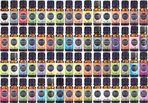 Supreme Aromatherapy 100% Pure Therapeutic Grade Essential Oils Set (Essential Oil Gift Pack)- 64/ 10 ml