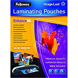 Fellowes - Lamination pouches - 25 x glossy - A4 (8.25 in x 11.7 in)