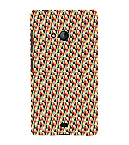 iFasho multi color Triangular Pattern Back Case Cover for Nokia Lumia 540