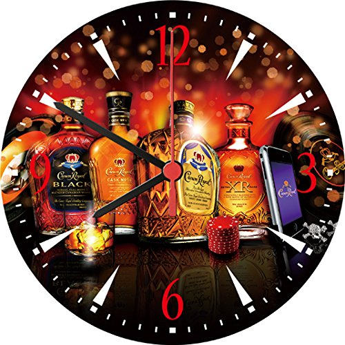 crown-royal-whisky-xr-reserve-black-cask-deluxe-wall-clock