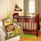 NoJo Little Bedding Jungle Dreams 3 Piece Crib Bedding Set