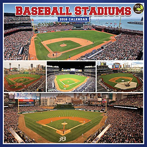 2016 Baseball Stadiums Wall Calendar
