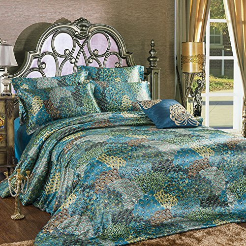 Peacock Baby Bedding 1637 front