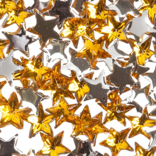 Zink Color Nail Art Acrylic Rhinestone Orange Star 100 Piece Embellishment (100 Kisses Tickets compare prices)