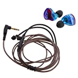 MonkeyJack KZ ZST Armature Dynamic Hybrid Dual Driver Earphone Detachable Cable In Ear Audio Monitors Noise Isolating HiFi Music Bass Boost Sports Earbuds (Colorful Without Mic)