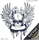 Grashine Waterproof And Non Toxic Hot Selling Fashionable Angel Wings With Skull Totem Design Temporary Tattoo Sticker
