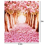 Mohoo Cherry blossoms Street Studio Photography Backdrop Photo Background Beautiful Flower Vinyl
