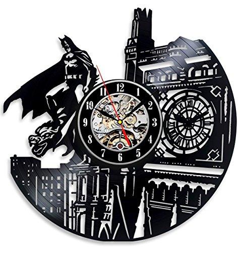 Vinyl Evolution Batman Dark Knight Wall Clock, Black