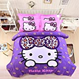CASA-Children-100-cotton-series-HELLO-KITTY-Duvet-cover-Pillow-cases-sheet4-Pieces