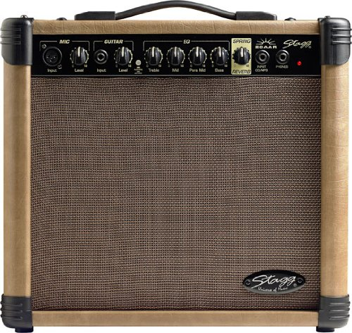 Stagg 20 AA R USA 20 Watt RMS Acoustic Guitar Amplifier with Spring Reverb (Input Jack Dean Guitar compare prices)