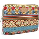 Kinmac Classical Bohemian Canvas Neoprene Laptop Sleeve 17inch / 17.3 Inch Laptop Bag Case Cover