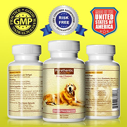 Omega 3 for dogs fish oil for dogs 180 softgels featuring for Fish oil for cooking