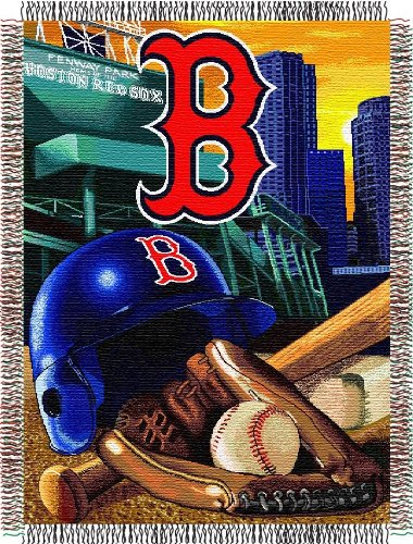 Mlb Boston Red Sox Acrylic Tapestry Throw Blanket front-871277