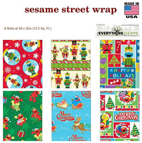 sesame street wrapping paper Home the gift of gift wrap  4 roll gift wrap kits: 4 roll gift wrap kits exclusive ensembles | stock kits  four 26x72 rolls of sesame street wrapping paper.