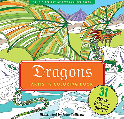 Dragons Adult Coloring Book