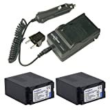 7.4V 7800mAh 2X Lithium-ion Camcorder Battery CGA-D54SH and 1x Travel Charger to The Panasonic CGR-D54 CGA-D54S Batteries