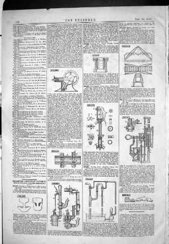 lamericano-brevetta-lingegneria-1885-del-mozzipompa-del-pulitore-hurley-del-condotto-di-scarico-del-