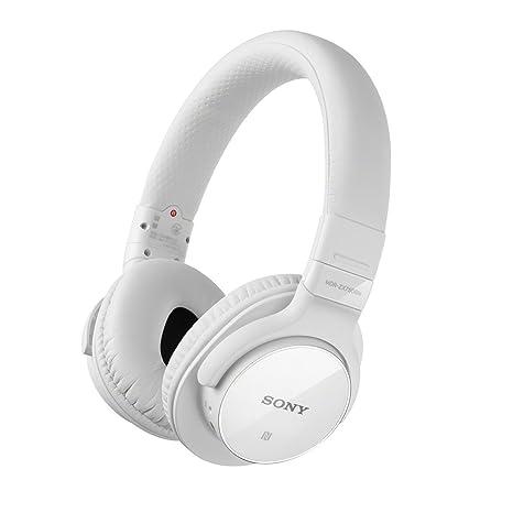 Sony MDR-ZX750BNW.CE7 Casque supra-aural sans fil avec réduction de bruits autonomie 19h Bluetooth NFC USB 8 - 22 000 Hz 102 dB/mW + Kit mains libres Blanc