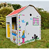 Play House - Cardboard Colour In Childs Wendy Houseby Cardboard World