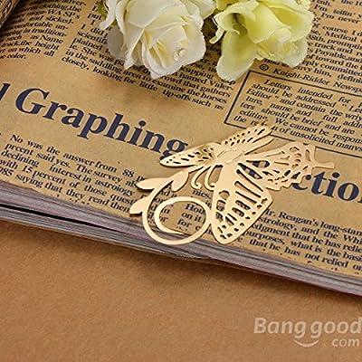 easyshop Goldenes überzogenes Metall Schmetterlings Bookmark stationär von easyshop4u bei Gartenmöbel von Du und Dein Garten