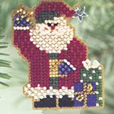 Mr Claus Beaded Counted Cross Stitch Ornament Kit Mill Hill 2001 Winter Holiday H99