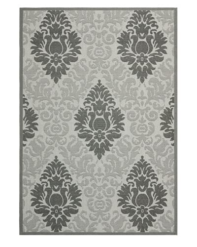 Safavieh Courtyard Indoor/Outdoor Rug, Light Grey/Anthracite, 8' 10 x 11' 6