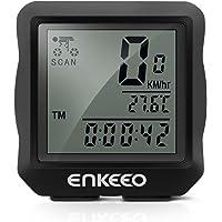 Enkeeo Wired Bike Computer Bicycle Speedometer/Odometer with Backlit Display