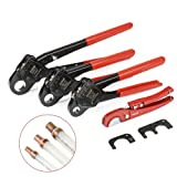 IWISS Angle Head F1807 PEX Pipe Crimping Tool for Copper Rings - 1/2&3/4&1-inch Three Crimper Set with Cutter (Tamaño: 1/2&3/4&1-inch Three Crimper Set with Cutter)