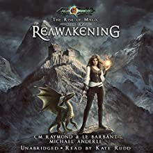 Reawakening: The Rise of Magic, Book 2 Audiobook by C. M. Raymond, L. E. Barbant, Michael Anderle Narrated by Kate Rudd