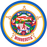 Chic 3 in 1 Minnesota Flag MN US Jumbo Badge Button Pin 3.75 Inches