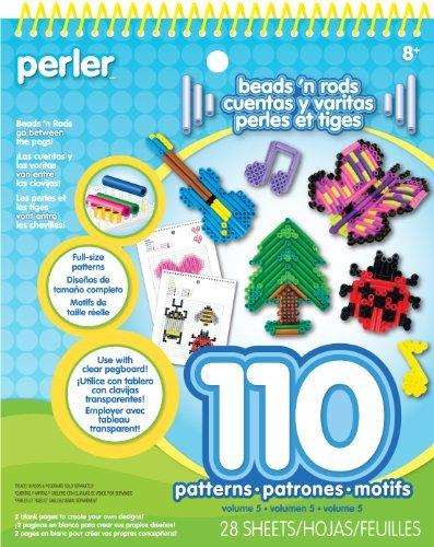 Perler Beads N Rods Pattern Pad by Perler