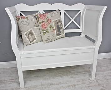 bank k chenbank holzbank holz wei landhaus truhe neu antik truhe truhenbank us125. Black Bedroom Furniture Sets. Home Design Ideas