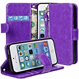 IPhone 5S Case, 5S Flip Case - E LV Apple IPhone 5S Case Cover Deluxe PU Leather Folio Wallet Case Cover For IPhone...