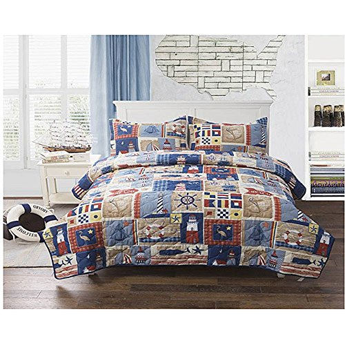 Home From The Sea Bedding Quilt (Twin) (Lighthouse Quilt compare prices)