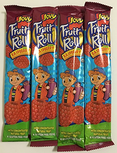 0.75oz Jovy Fruit Roll Snack, Raspberry (4 Packets Per Order) (Jovy Fruit Rolls compare prices)