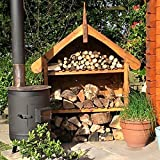 decorative small log store for fuel logs plant pots, or garden tidy, 4ft x 5ft x 1ft 5