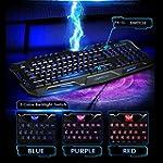 AGPtek�3-Color Rouge/Bleu/ Violet LED...
