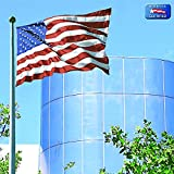 American Flag 4x6 ft. Tough-Tex the Strongest, Longest Lasting Flag by Annin Flagmakers, 100% Made in USA with Sewn Stripes, Embroidered Stars and Brass Grommets.  Model 2720