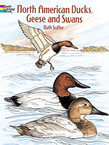 North American Ducks, Geese and Swans (Dover Nature Coloring Book) (Birds Of America Coloring Book compare prices)