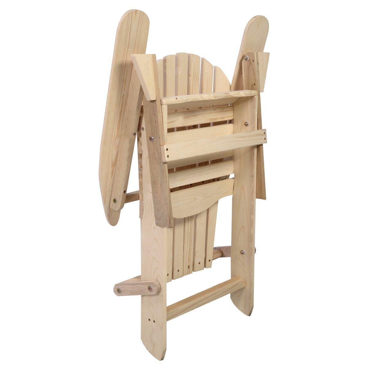 Giantex New Outdoor Foldable Fir Wood Adirondack Chair Patio Deck Garden Furniture ¡ (wood)