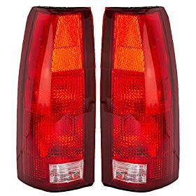 Driver and Passenger Taillights Tail Lamps Replacement for Chevrolet Cadillac GMC Pickup Truck SUV 16506355 16506356